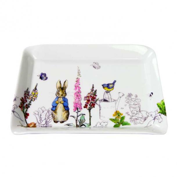 Peter Rabbit Melamine Bakke, lille bakke med Peter Kanin 22 x 16 cm