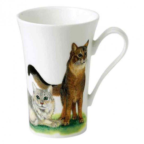 Krus med katte, engelsk krus til te og kaffe 0,40 ltr.