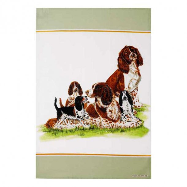 Dog Collection Viskestykke i Bomuld Spaniel 2 stk  B48 x H70 cm
