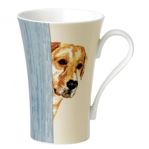 Golden Retriver stor latte jumbo mugg med hund  på 0,6 ltr.