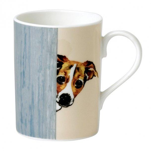 Mugg med hund motiv av Jack Russel terrier 0,33 ltr,