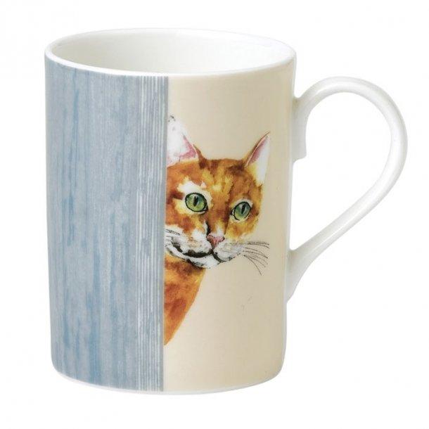 Krus med Skildpaddefarvet kattemotivet, te og kaffe krus 0,33 ltr.