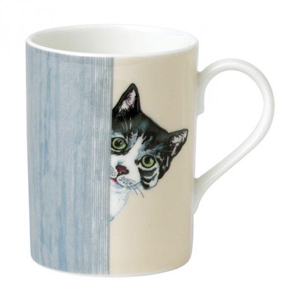 Krus med motiv af  rød kat, Dejligt te og kaffe krus med kat 0,40 ltr.