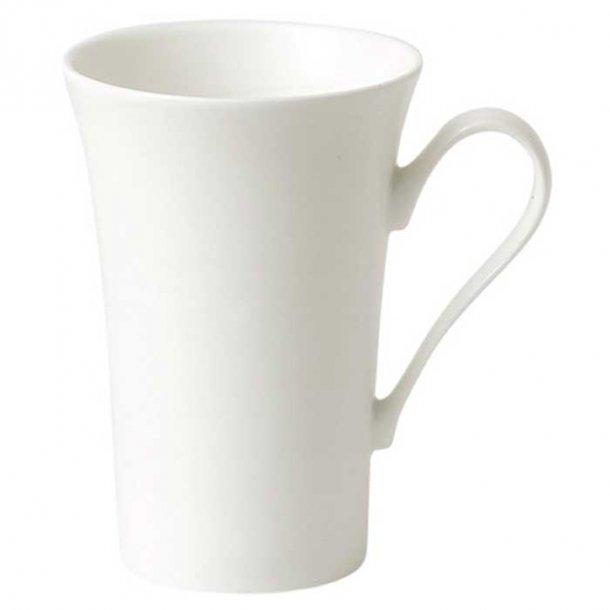 Hvidt Latte Jumbo Krus, stor lattekrus og kaffekrus i porcelæn  0,6 l