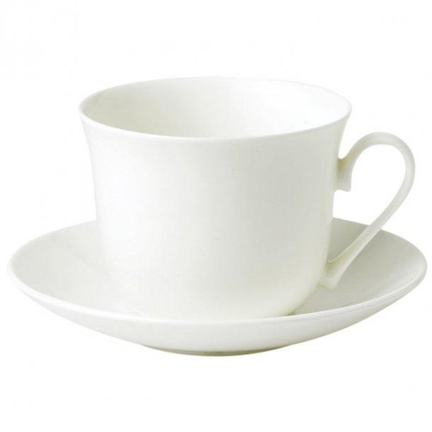Jumbo kop i den fineste engelske porcelæn, hvid kaffe og tekop 0,45l