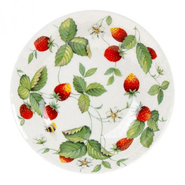 Alpine Strawberry Ymerskål med Jordbær 18 cm