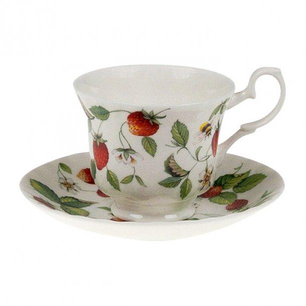 Alpine Strawberry, flot kaffekop med en smuk Jærdbær motiv 0,23 ltr
