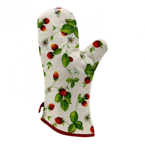 Alpine Strawberry Grillhandske med jordbær, praktisk grillhandske