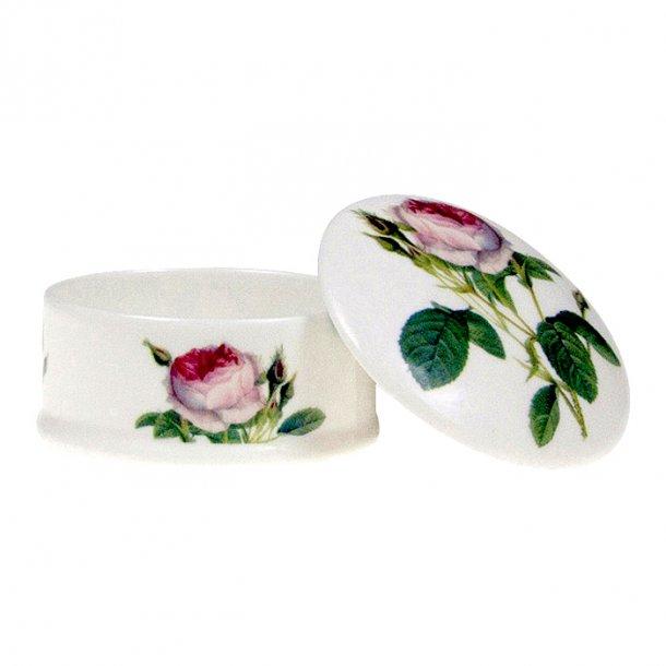Redoute Roses Runda låda med lock med Rosor ø 78 mm