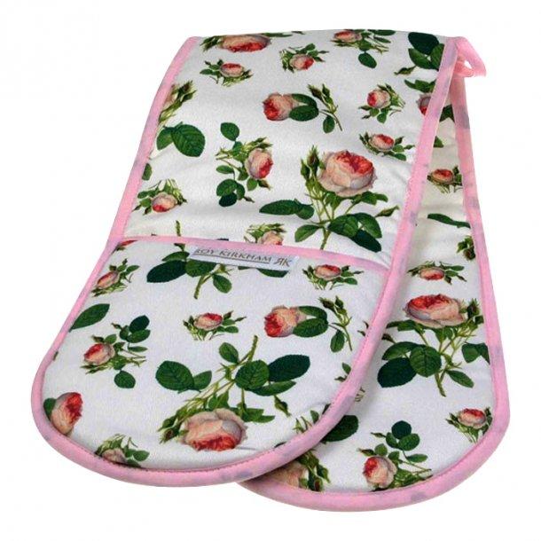 Redoute Roses Dobbelt Grillhanske med  Rosor