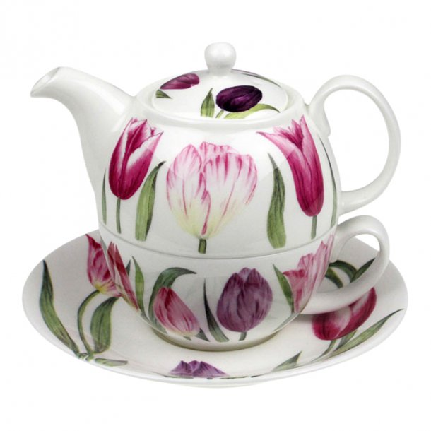 Tulips Tea for One, tekande og kop med tulipaner,0,40 ltr.