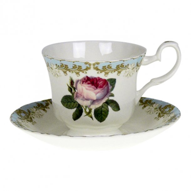 Vintage Rose Blue Kaffekopp 0,23 ltr