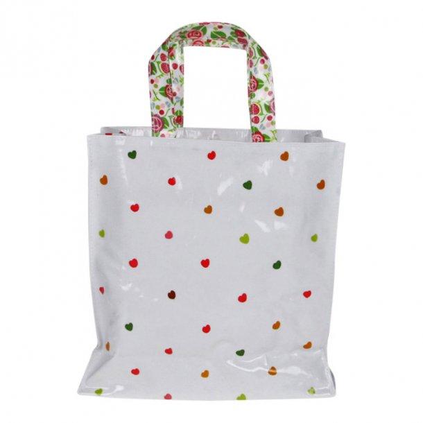 Strawberry PVC Lille Indkøbs Taske Shopper b28 x h28 x d10 cm