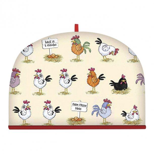 Chickens Tehætte med Høns L35 x h 26 cm