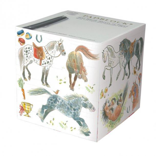 Happy Horses Papirblok 9x9x9 cm