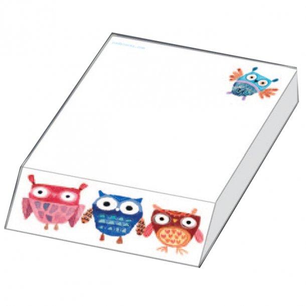 Crazy Owls Papirblok 9,5x13,5x2,0 cm