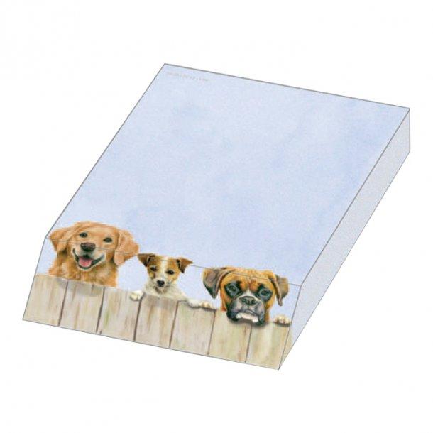 Pappers block med hund motiv.  9, 5 x 13, 5 x2,0 cm. en självklar gåva