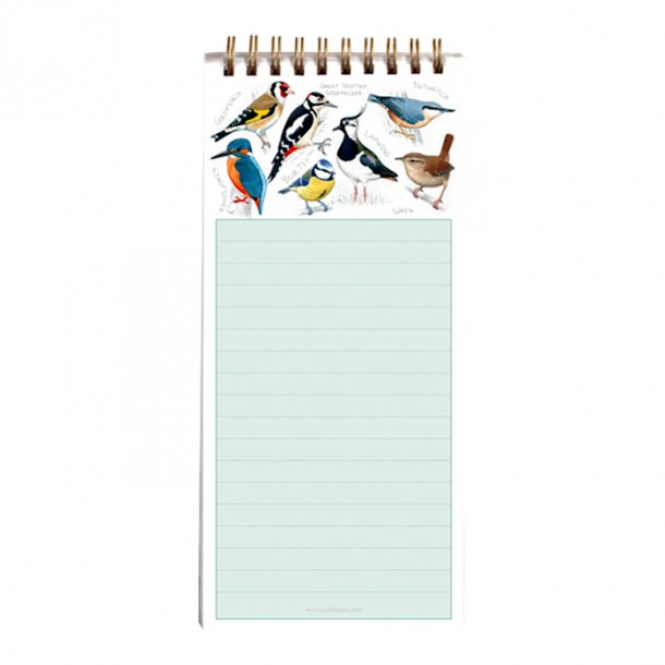 British Birds Huskeseddel med Magnet 9,5x21 cm