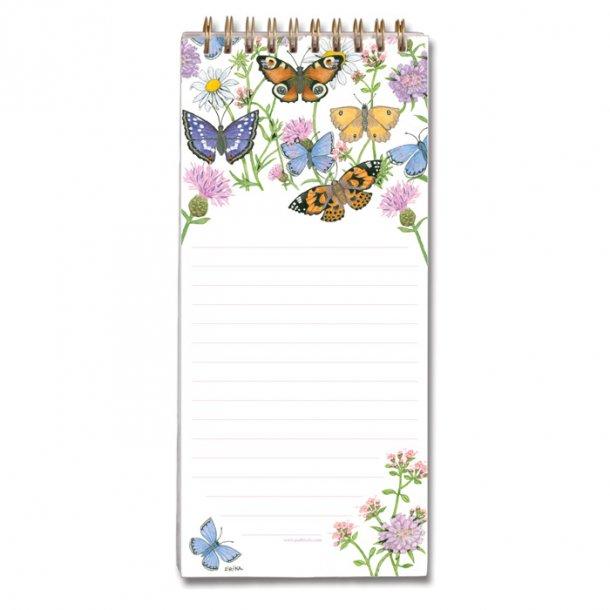 Butterfly Garden Huskeseddel med Magnet 9,5x21 cm
