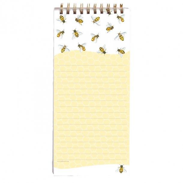 Honey Bees Huskeseddel med Magnet 9,5x21 cm