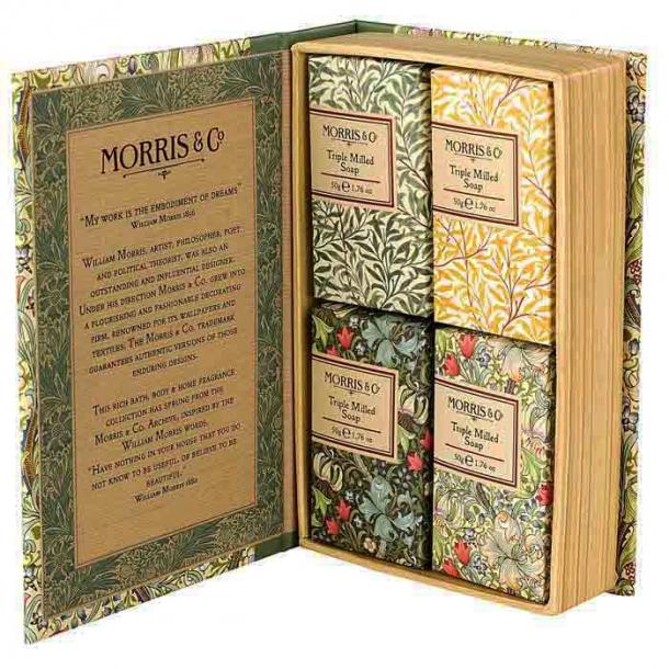 Morris & Co Golden Lily Guest Soap 4 x 50 g
