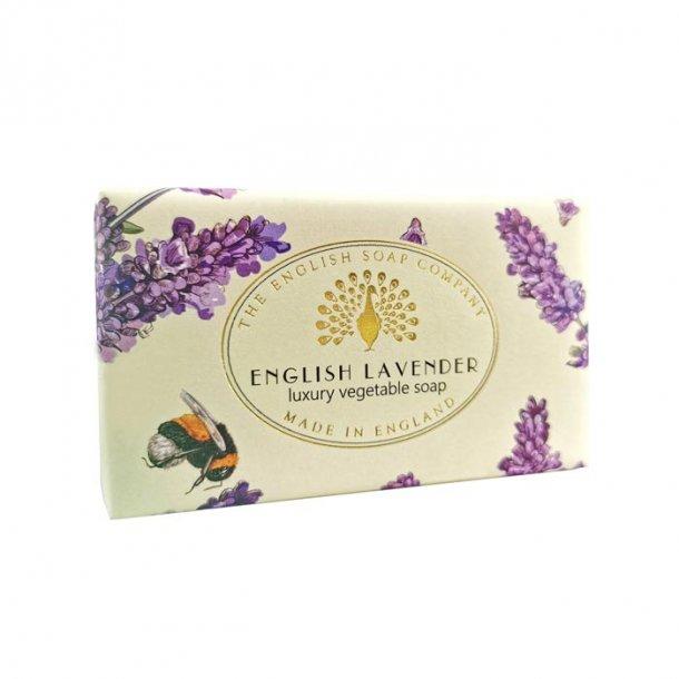 Vintage English Lavender Sæbe, stor gavesæbe med Lavendel duft  200g