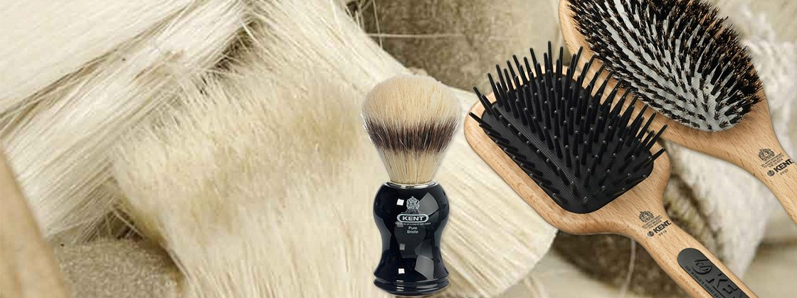 Kvalitetsbørster og barbergrej fra Kent Brushes Co. Ltd.